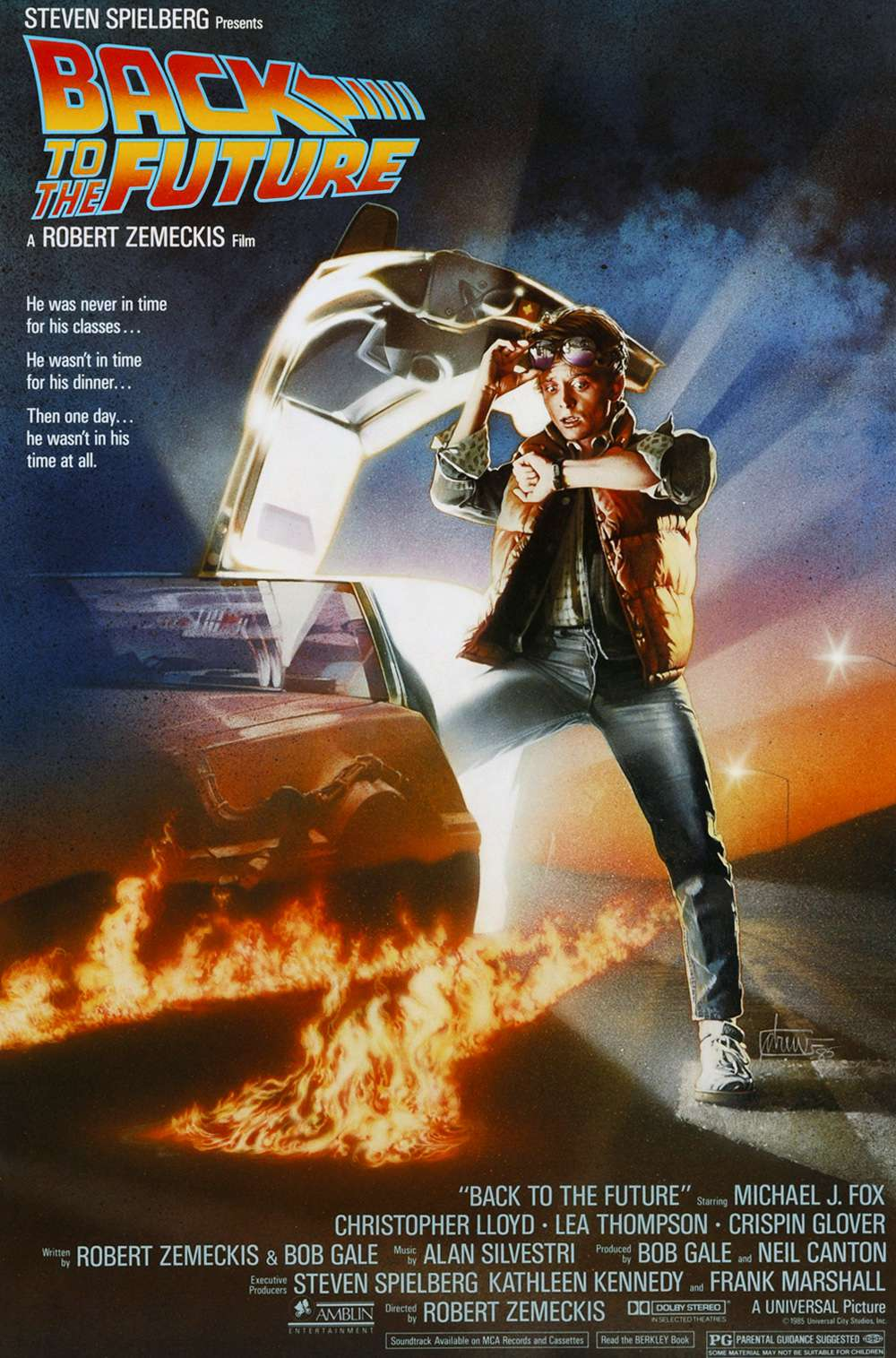 Poster for Back to the Future (1985)