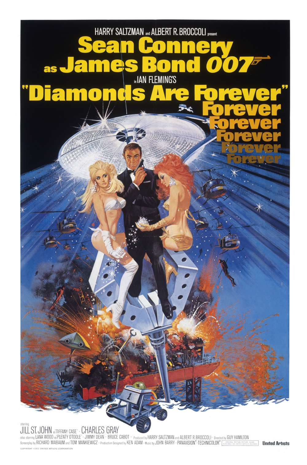 Poster for Diamonds Are Forever (1971)