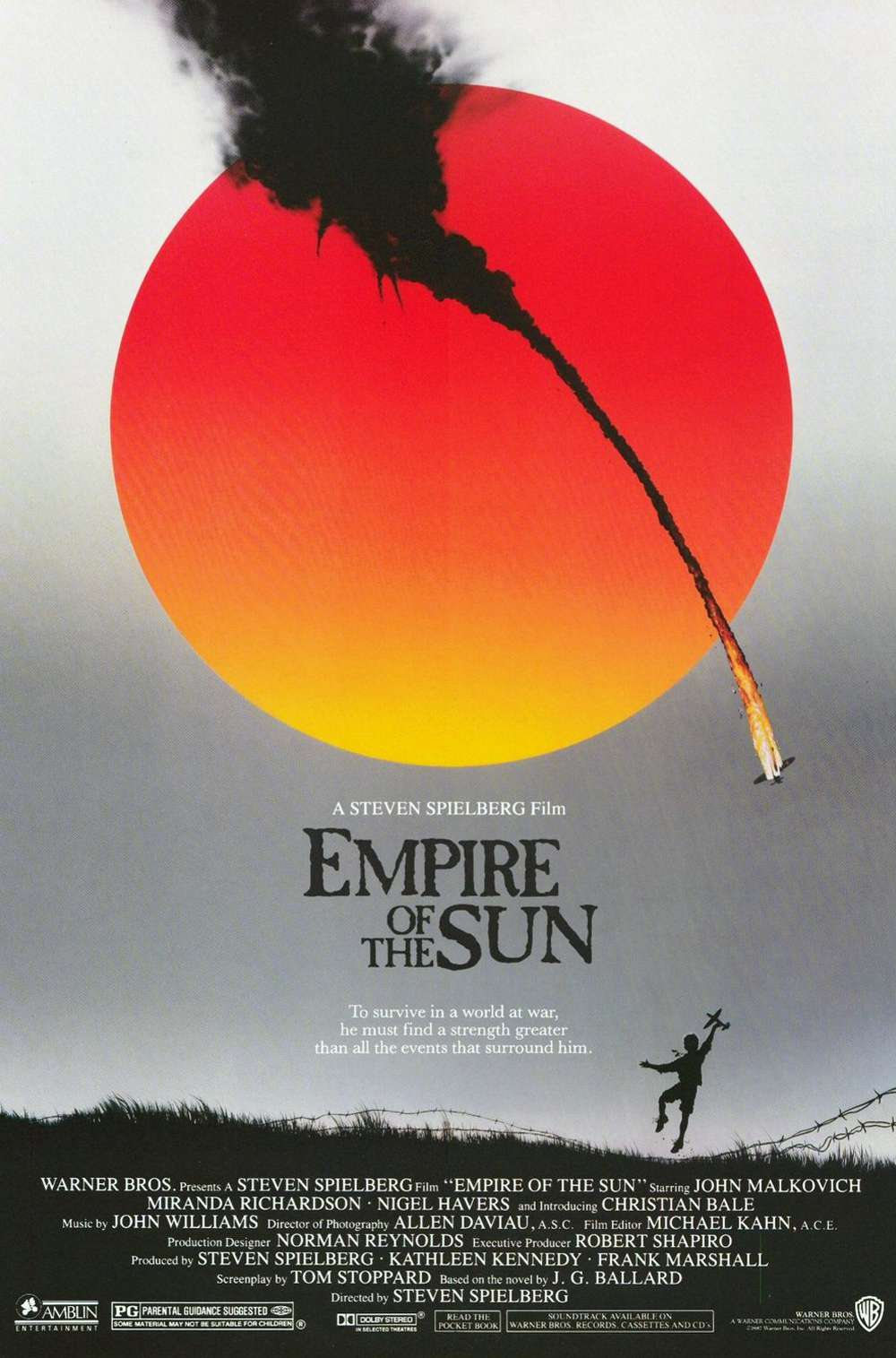 Poster for Empire of the Sun (1987)