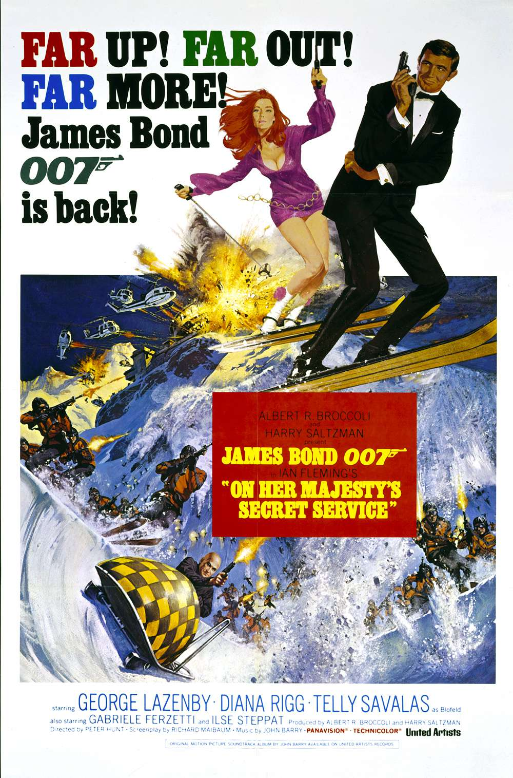 Poster for On Her Majesty's Secret Service (1969)