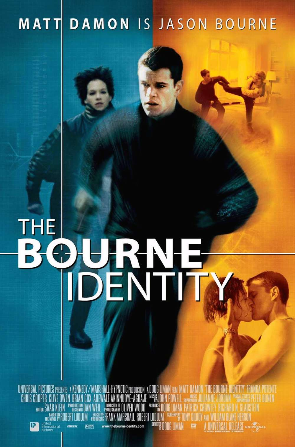 Poster for The Bourne Identity (2002)