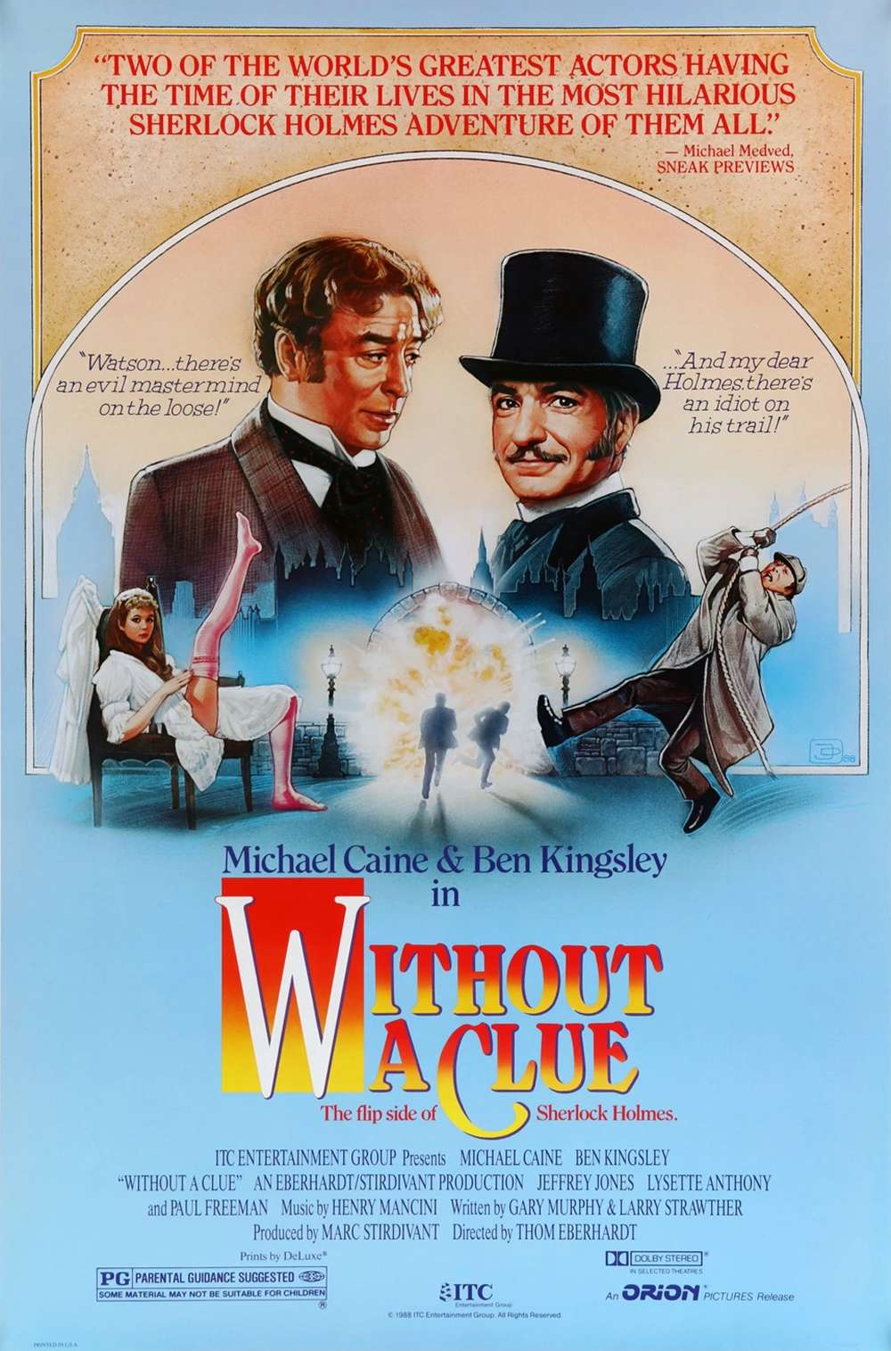 Poster for Without a Clue (1988)